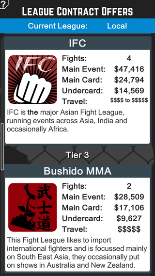 MMA Manager Screenshot 6