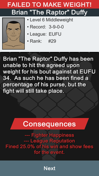 MMA Manager Screenshot 9
